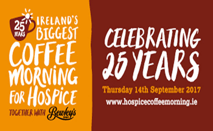 Ireland's biggest coffee morning for hospice, 14 September 2017