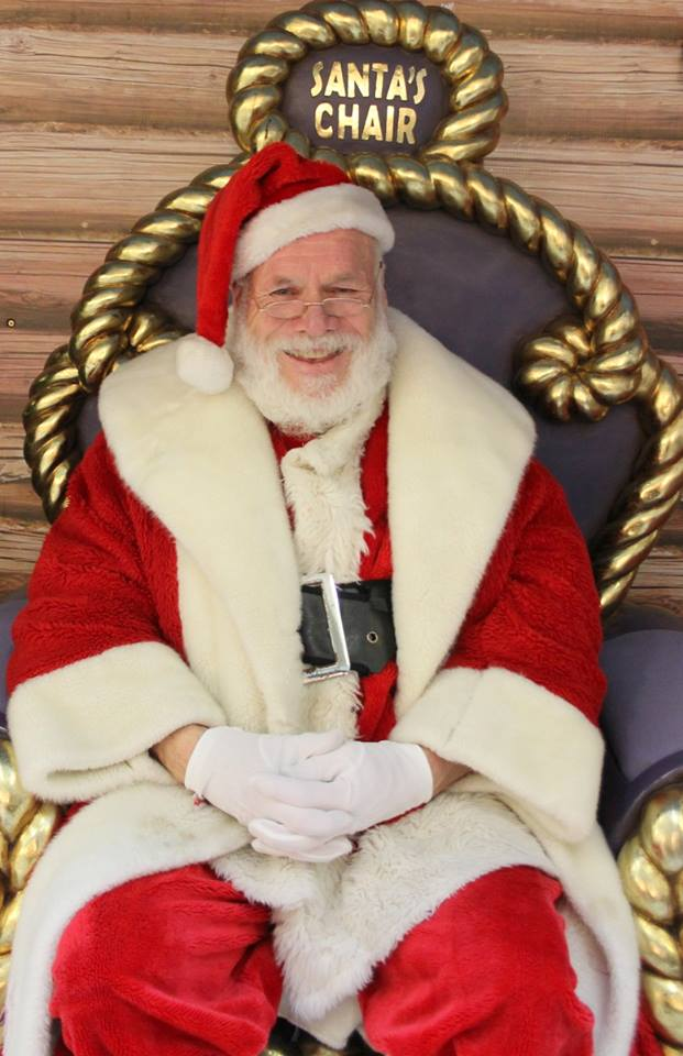 Santa in Johnston's Court for North West Hospice