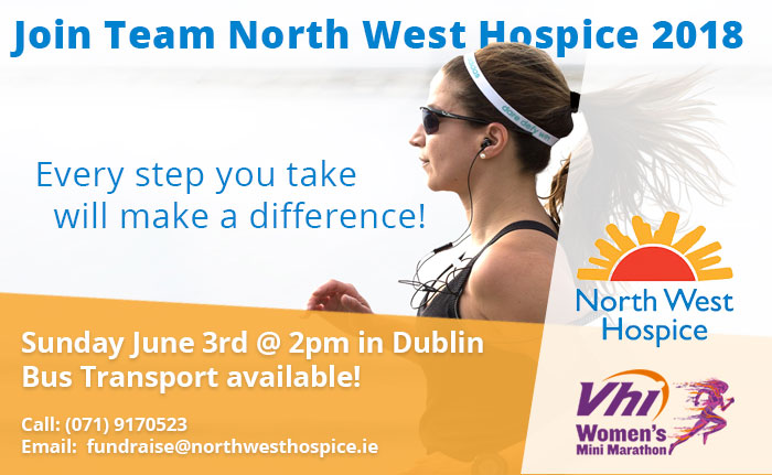 Mini marathon poster in aid of North West Hospice