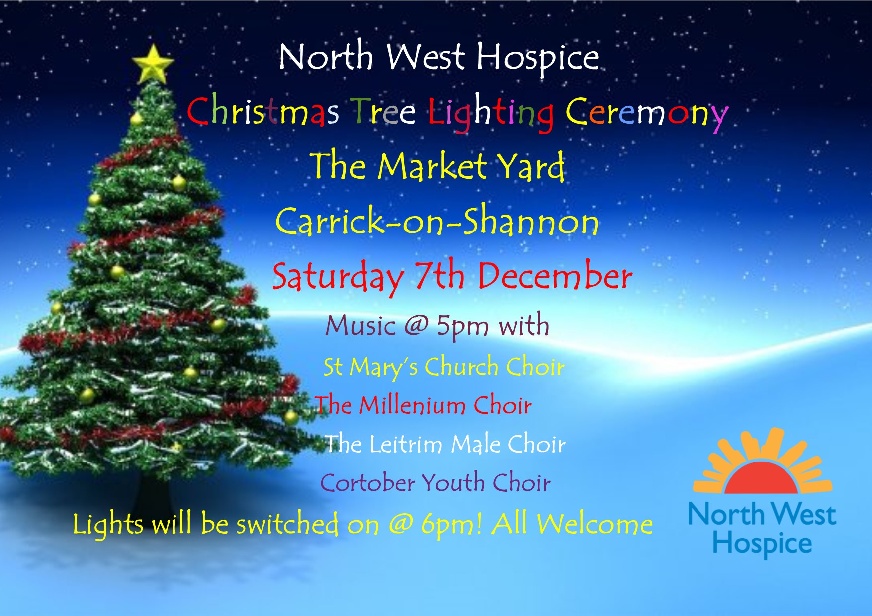North West Hospice Christmas Tree Lighting Ceremony Carrick-on-Shannon