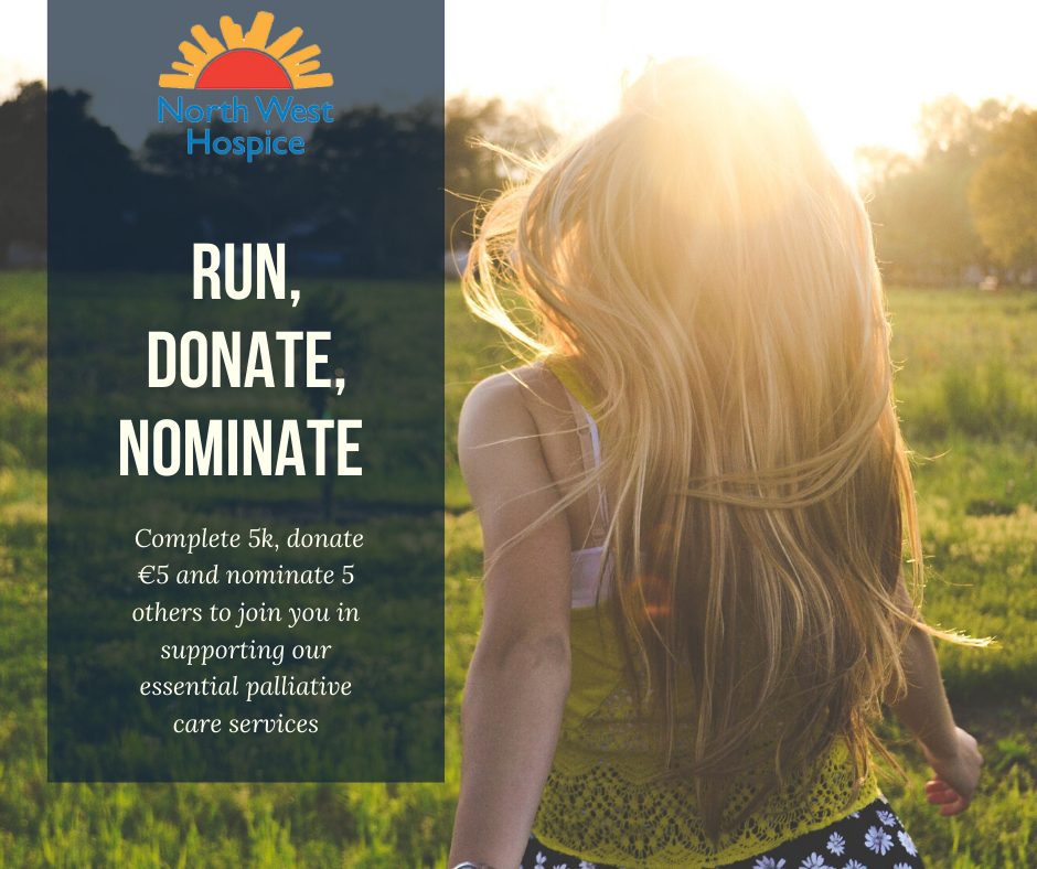Run 5, Donate 5, Nominate 5, Challenge for North West Hospice